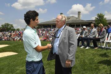 前週のメモリアル・トーナメントでは6位タイとなりニクラウスに祝福されたニーマン Photo by Stan Badz/PGA TOUR