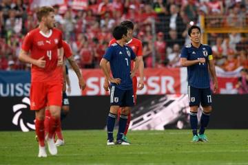 スイス代表に敗れた日本代表の面々 photo/Getty Images