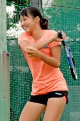 全国の強豪が集う「MUFGジュニアトーナメント」で初優勝した今村(パブリックテニス小倉)