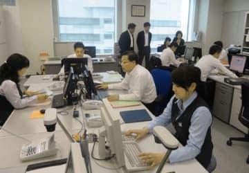 法人特化型の店舗として営業を始めた滋賀銀行の新大阪支店(大阪市淀川区)