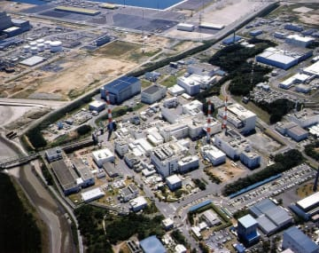 日本原子力研究開発機構の東海再処理施設=茨城県東海村(同機構提供)