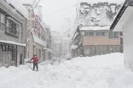今年2月、観測史上最高の積雪を記録した大蔵村肘折地区