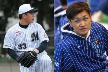 ロッテ・南昌輝(左)とDeNA・大和【写真:荒川祐史】