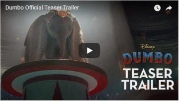 ティム・バートン監督によって生まれ変わったダンボに注目!(YouTube『ダンボ(原題)/ Dumbo』予告編のスクリーンショット)