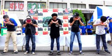 昨年は約1万5千人が来場した「富里市すいかまつり」