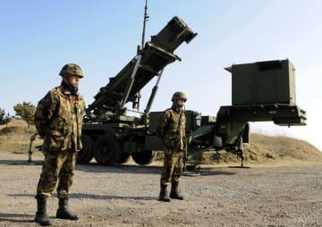 2009年、北朝鮮のミサイル発射を警戒してPAC3の発射機が設置された秋田市の陸上自衛隊新屋演習場