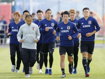 Football: Japan national team in Kazan