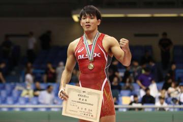 全日本選手権に続いて79kg級を制し、7度目の世界大会出場を確実にした高谷惣亮