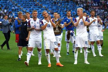 最後まで集中を切らさなかったアイスランドの面々 photo/Getty Images