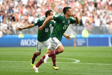 ロサーノの一撃がメキシコサポーターに歓喜をもたらした photo/Getty Images