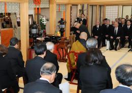 仙台藩首席奉行・但木土佐の偉功をしのんで執り行われた追悼式