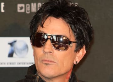 Tommy Lee at Motley Crue Final Tour Press Conference at the Law Society, London