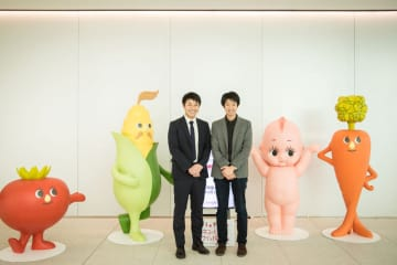キユーピー株式会社のエントランス。どこかで見たことのあるキャラクターが出迎えてくれました!