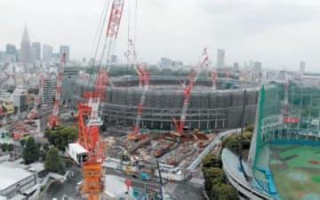 日本青年館ホテルから一望できる新国立競技場。