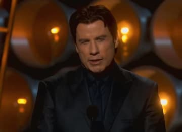 John Travolta at the 2014 Oscars