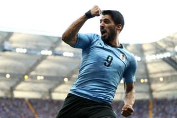 勝利の立役者となったスアレス。ゴール後に喜びを爆発させる photo/Getty Images