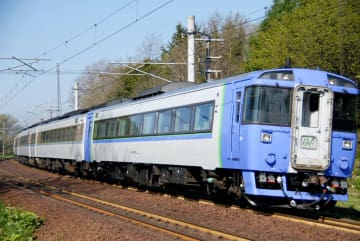 車両側面の「方向幕」が模造品にすり替わっていたキハ183系の同型車両(JR北海道提供)