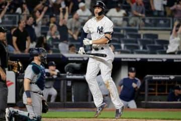 サヨナラ弾史上最速の本塁打を放ったヤンキース・スタントン【写真:AP】