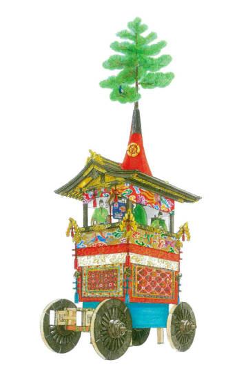 巡行が休止したころの「鷹山」の復元図(作図・中川未子さん)