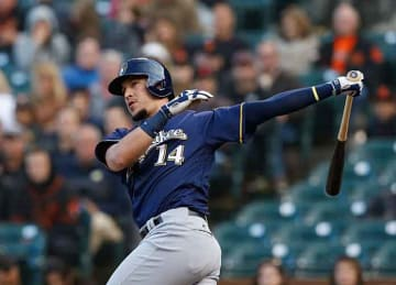 Hernan Perez homers in Brewers' 3-2 win vs. Dodgers