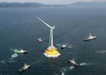 Fukushima offshore wind farm experiment