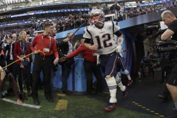 ニューイングランド・ペイトリオッツのトム・ブレイディ【AP Photo/Matt Slocum】