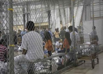 """amilies are still together here, though more than 2,000 children have been taken from their parents under the """"zero tolerance"""" policy."""