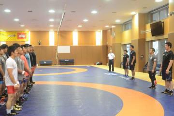 十日町合宿に続いて本拠地での合宿を開始した男子グレコローマンの全日本チーム