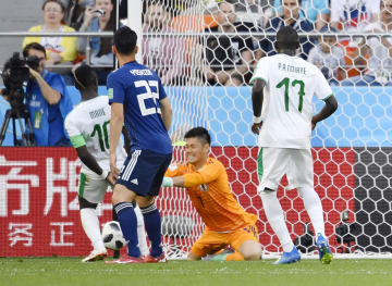 Football: Japan vs Senegal at World Cup
