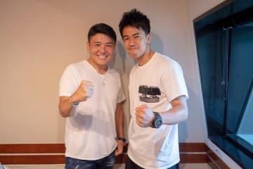 武井壮さん(右)と、パーソナリティの丸山茂樹