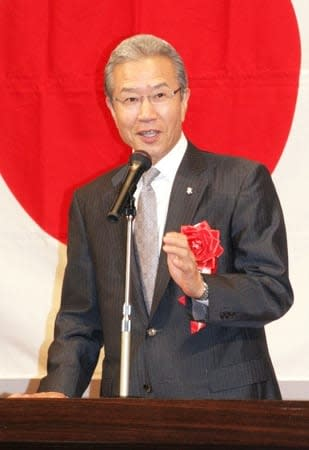 元阪急の山田久志さんの講演会=23日、南魚沼市の市民会館
