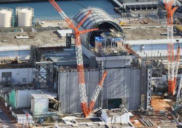 東京電力福島第1原発3号機=2017年11月