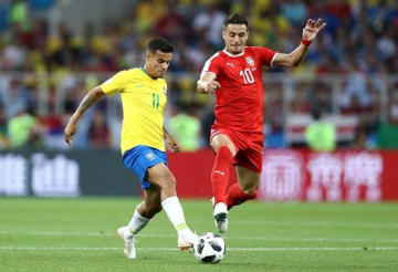 ブラジル代表のコウチーニョ photo/Getty Images