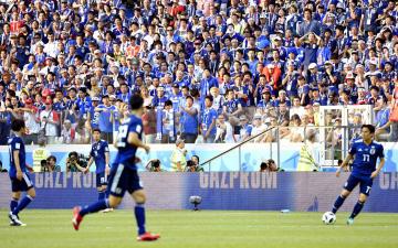 Football: Japan vs Poland at World Cup