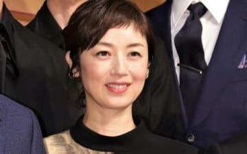 舞台「魔界転生」の製作発表会見に出席した高岡早紀さん