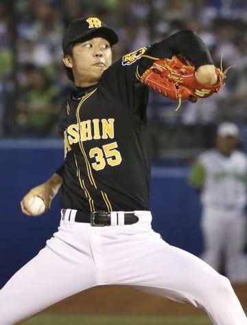 1回途中から登板し、6回無失点で2勝目を挙げた阪神・才木=神宮