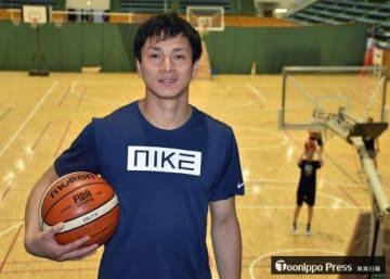 U21デフバスケットボール世界選手権の日本代表に選ばれた津屋選手=20日、神奈川県平塚市の東海大湘南キャンパス