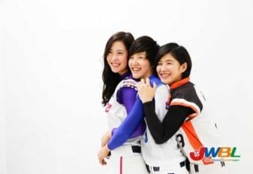 第3弾までで販売枚数は1000枚を突破した女子プロ野球ブロマイド写真(画像は第1弾)【画像提供:日本女子プロ野球機構】