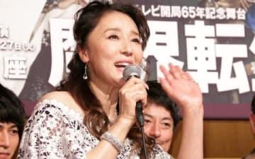舞台「魔界転生」の製作発表会見に出席した浅野ゆう子さん