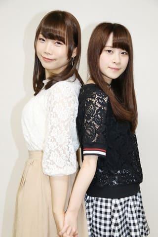 テレビアニメ「Back Street Girls -ゴクドルズ-」に声優として出演する貫井柚佳さん(左)と前田佳織里さん