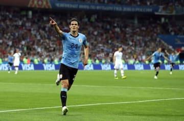 限られたチャンスをものにし、ウルグアイを勝利に導いたカバーニ photo/Getty Images