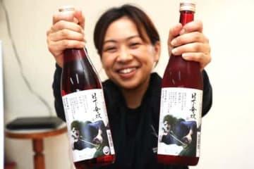 松本零士さん監修「新免無二」のラベルを施した村重酒造の「日下無双」