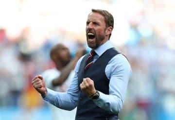 ベスト姿で試合に臨むサウスゲイト監督。イングランド代表を優勝へ導けるか photo/Getty Images