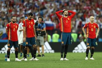 ロシアに敗れたスペイン代表 photo/Getty Images