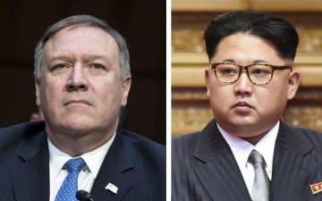 ポンペオ米国務長官(UPI=共同)、北朝鮮の金正恩朝鮮労働党委員長