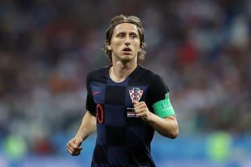 クロアチアの10番を背負い、キャプテンも務めるモドリッチ。チームの躍進には彼の力が必要だ photo/Getty Images
