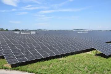 発電を始めた「新潟県四ツ郷屋発電所」=2日、新潟市西区