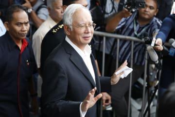マレーシア・クアラルンプールの汚職対策委員会に出頭したナジブ前首相=5月24日(AP=共同)