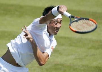 Tennis: Nishikori at Wimbledon
