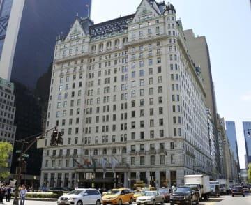 米ニューヨーク中心部のプラザホテル(共同)